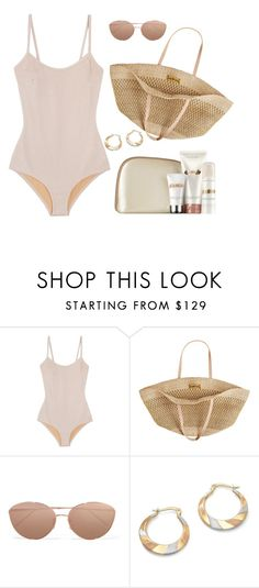"""Beach Gear"" by susanelizabeths ❤ liked on Polyvore featuring Base Range, Flora Bella, Linda Farrow, Palm Beach Jewelry and La Mer"