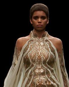 Couture Fashion, Runway Fashion, Fashion Show, Fashion Outfits, Fashion Design, Greek Dress, Conceptual Fashion, Cyberpunk Fashion, Gowns Of Elegance