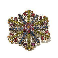 "Heidi Daus ""Snow Crystal"" Crystal Snowflake Pin"
