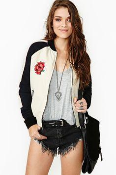 Rose Tattoo Bomber Jacket
