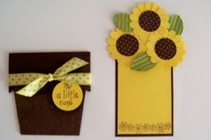 Hello There! Making a bunch of these for a customer who is having a Garden Party in June - Sunflowers are her favorite flower so I thought . Pop Up Cards, Cute Cards, Diy Cards, Scrapbook Cards, Scrapbooking, Sunflower Cards, Sunflower Flower, Diy And Crafts, Paper Crafts