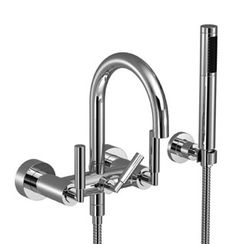 Tara. 25133882 Tub mixer for wall-mounted installation, with hand shower set. Dorn Bracht and comes in many finishes.