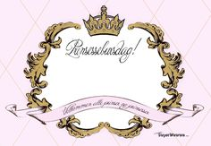 { Prinsesse-Invitasjon // Gratis nedlasting } - ToneroseDesign