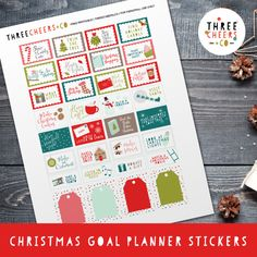 FREE Christmas Goal Planner Stickers