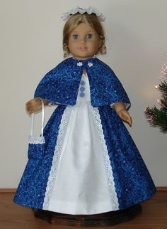Colonial Holiday dress created for by MargaretteDesigns4AG on Etsy