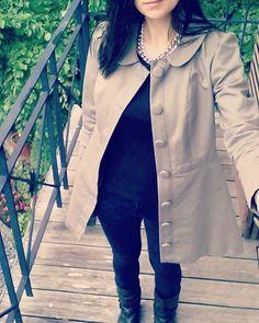 Toute en noir, avec ma #ddpavot #mmmay16 #jeportecequejecouds Laissez Lucie Faire, May 24, The 4, Duster Coat, Instagram Posts, Jackets, Inspiration, Fashion, All Black