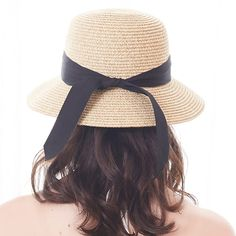 63e0af7d7c216 Womens Foldable Summer Sun Beach Straw Hat UPF50 Travel Packable Summer Cap  - Beige With Black Strap - CZ180OD4ZL5