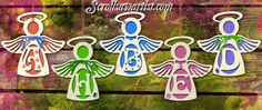 Scroll Saw Patterns :: Religious & Inspirational :: Angels :: Angel letter ornaments -