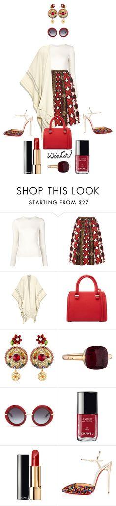 """Job Day 748"" by minigiulia ❤ liked on Polyvore featuring Carolina Herrera, Valentino, The Row, Victoria Beckham, Dolce&Gabbana, Pomellato, Chanel and Christian Louboutin"