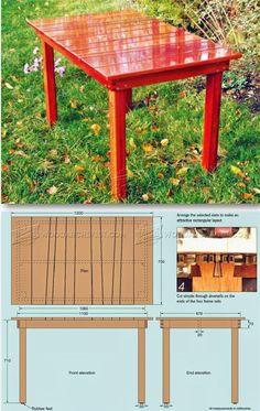 Garden Table Plans - Outdoor Furniture Plans & Projects | WoodArchivist.com