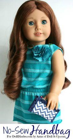 Doll Craft-Make a No-Sew Handbag for Dolls - Doll Diaries