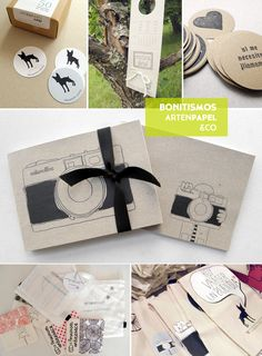ArtenPapel es la marca de Elena, que crea tanto diseños personalizados como detalles como libretas, sellos, invitaciones y etiquetas en papel y tela