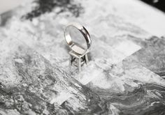 Bague au Piedestal - Silver Jewelry Collection, Silver Rings, Contemporary