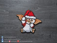 Famous Last Words Gremlins Gizmo, Les Gremlins, Perler Bead Mario, Pokemon Perler Beads, Diy Perler Beads, Hama Beads Halloween, Christmas Perler Beads, Christmas Ornaments, Hama Beads Patterns