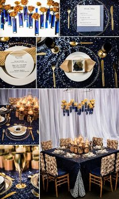 55 Elegant Navy And Gold Wedding Ideas | HappyWedd.com