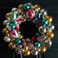 Image result for making beautiful christmas wreath with glass ornaments