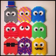 Pacman hama perler beads by pagey163