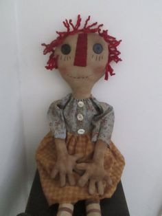 Extreme Primitive Raggedy by Bettesbabies on Etsy