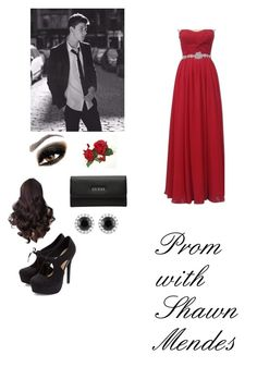 Prom with Shawn Mendes by littlegaudet on Polyvore featuring polyvore, fashion, style, GUESS and Beverly Hills Charm
