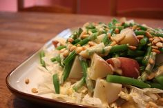 Potato and Green Bean Salad, Egyptian Style - The Largest Egyptian Food Recipes Collection