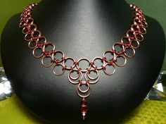 Copper and Red Graduated Japanese Chainmaille by xntriclatin, $42.00