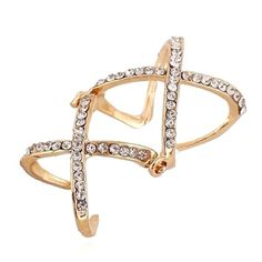 Knuckle Ring Beautiful Gold-tone Knuckle Ring  Size: Adjustable  Material: Yellow Filled Gold/Cubic Zirconia  Condition: New Jewelry Rings