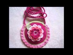 Bolsos, Carteritas De Niñas Y Muñecos Tejidos Crochet . - YouTube