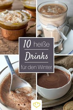 From hot pumpkin rum to mulled wine to vegan cocoa – these hot drinks warm you up from the inside in winter! From hot pumpkin rum to mulled wine to vegan cocoa – these hot drinks warm you up from the inside in winter! Winter Drink, Winter Food, Summer Drinks, Cold Drinks, Dessert Halloween, Mulled Wine, Pumpkin Spice Cupcakes, Vegetable Drinks, Mini Desserts