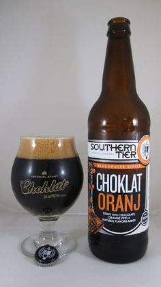 Southern Tier Choklat Oranj ♦ Chocolate and orange are two flavors that indeed go together, it's just that you don't see them paired up too often (a Black IPA made with Amarillo hops, for example). Regular Choklat is such an excellent beer, would adding orange to it actual improve it? Well, no; but it does make it interesting and unique to say the least. Chocolate is, not surprisingly, the dominate flavor throughout this palette: rich, sweet milk chocolate as opposed to bitter dark....