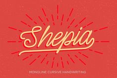 Shepia Script by Seniors on @creativemarket