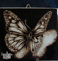 *Butterfly* *Pirografia su Acero* *Pyrography on Maple Wood*