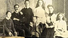 """The Goodwins, lost on the Titanic, youngest son, Sidney, not pictured here.  Carol Goodwin, who is writing a book about the Titanic's Unknown Child and another about the doomed family of Frederick and Augusta Goodwin, said other accounts of the sinking have described the family on deck by saying, """"The mother would not leave the father. The children would not leave the parents."""""""
