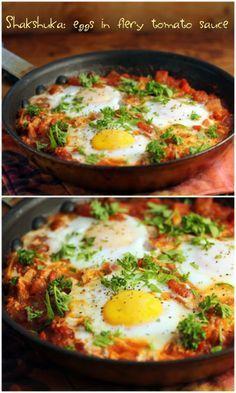 Shakshuka: eggs in fiery tomato sauce {vegetarian, gluten-free} {The Perfect Pantry}