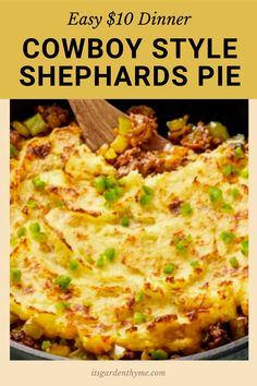 The Best Classic Shepherd's Pie - AKA Shepards Pie or Cottage Pie. Ground Beef (or lamb) with vegetables in a rich gravy, topped with cheesy mashed potatoes and baked. Homemade shepherd's pie is the ultimate comfort food. This simple recipe is made completely from scratch like the traditional, for a more budget friendly family meal. Filled with healthy vegetables and super comforting flavors, this is the casserole recipe is Easy, filling, healthy and delicious.