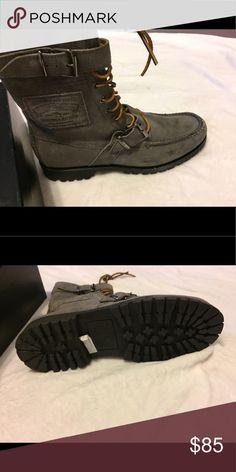 Ralph Lauren men's boots Brand new Ralph Lauren men's grey boots rubber sole snow or rain or work boots Ralph Lauren Shoes Rain & Snow Boots