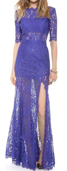 Lace split gown