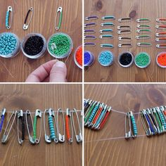How to Create Beaded Baubles with Safety Pins