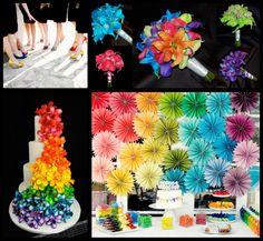 2014 Wedding Trend: Rainbow Themed Weddings