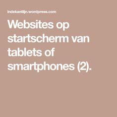 Websites op startscherm van tablets of smartphones (2).