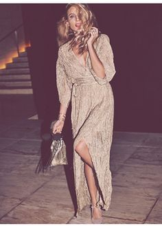 Style .. love this silk wrap dress.