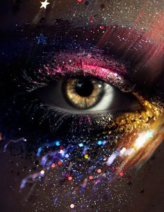 Art - Loni Baur MakeUp #glitter #fantasy this is pretty cool