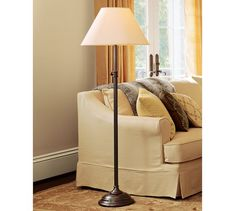 Chelsea Floor Lamp Base with Tray #potterybarn $250 as of 7/13/13 ...