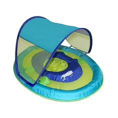 Swimways Sun Shade Spring Float In Whale Blue