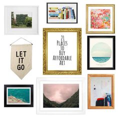 21 Places To Buy Original Art That's Actually Affordable. Society 6 is my go-to and it's great!