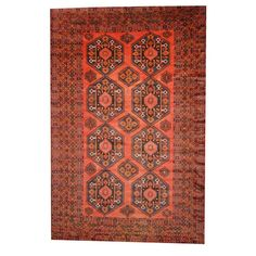 Found it at Wayfair - Balouchi Rust/Ivory Area Rug
