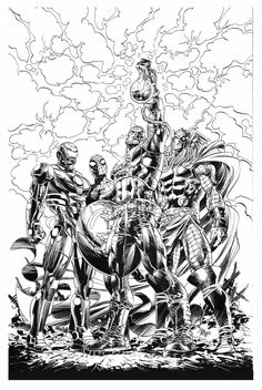 Cover for Original Sin #1 in Italy. Mike Deodato