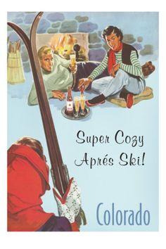 USA - #WINTER Vintage Travel Poster Colorado - Winter Sports
