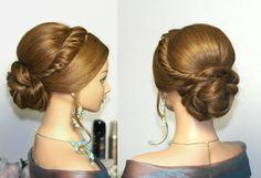 Wedding -prom updo, Свадебная прическа, прическ... Has her own under over twist, beautiful