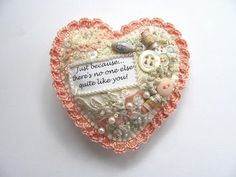 gift present with felt: embroidery sewing | make handmade, crochet, craft