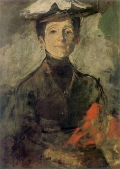 Autoportret z kwiatami (Self Portrait with Flowers), 1909 by Olga Boznańska on Curiator, the world's biggest collaborative art collection. L'art Du Portrait, Digital Museum, Post Impressionism, Collaborative Art, Figure Painting, Traditional Art, Painting Inspiration, Female Art, Les Oeuvres